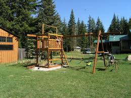gemini diy wood fort swingset plans jacks backyard image on