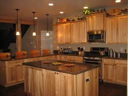 what paint color goes best with hickory cabinets pin by emilie eberth on home hickory kitchen cabinets