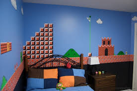 Legend Of Zelda Bedroom Room Painted In Mario Mural Randommization