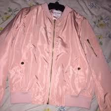 light pink blazer forever 21 forever 21 jackets coats light pink bomber jacket medium poshmark