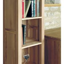 Narrow Bookcases Uk by Mobel Light Oak Narrow Bookcase Wooden Furniture Store