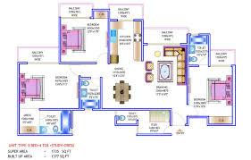 flooring store floor plan prateek wisteria noida site 3bhk study