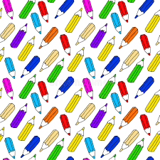 seamless pattern of many colored pencils stock vector image