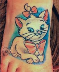disney tattoos marie aristocats tattoo love