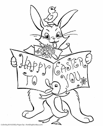 easter bunny coloring pages happy easter bunny honkingdonkey