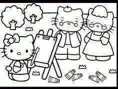 coloring pages kitty fifi garden coloring