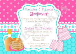 pancakes and pajamas birthday invitation diy print by jcbabycakes