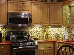glass tiles for backsplash in the kitchen home interiors