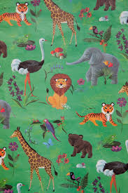 vintage gift wrapping paper children s zoo by ohhazelvintage