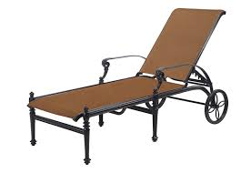 Sling Patio Chairs Shop Grand Terrace By Gensun Padded Sling Patio Furniture Chaise