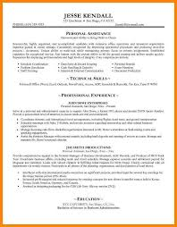 Personal Assistant Resume Sample Personal Assistant Resume Examples Personal Assistant Resume