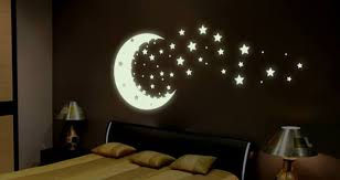 glow in the dark ceiling stars and moons modern ceiling design