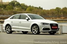 white audi sedan audi a3 sedan review white side indian autos