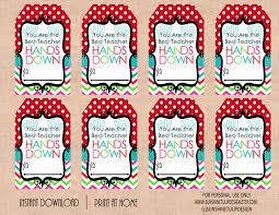 printable best teacher hands down gift tags printable teacher