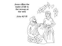 preschool coloring pages woman at the well samaritan women at the well color page the woman at the well