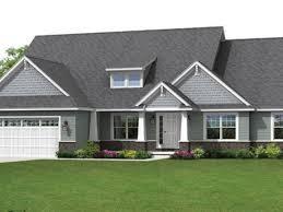 Prairie Style Homes Modern Craftsman Style House Plans Hahnow