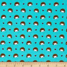 michael miller fox woods hedgehog heaven turquoise discount