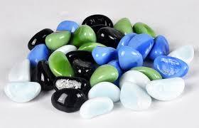 Decorative Glass Stones For Vase Decorative Pebble Stones 50 Pieces For Vase Fish Tank Landscape