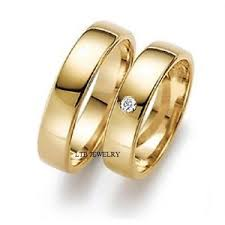 matching wedding bands his and hers 14k yellow gold diamond wedding bands his and hers matching