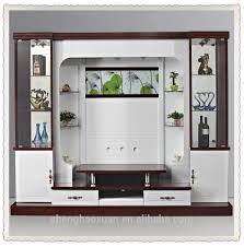 shx design living room tv set furniture 9905 led tv wall units