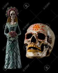 halloween background elegant catrina calavera known as the