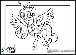 princess cadence coloring pages coloring pages my little pony