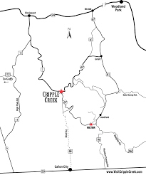 Map Of Colorado Cities by Maps City Of Cripple Creek Colorado