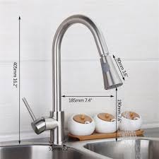 kitchen faucets brass 360 degree swivel two water model w pull out spray kitchen sink
