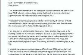 sample of landlord lease termination letter templatezet