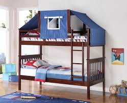 Bunk Bed With Tent Logan Bunk Bed Tent Kit In Blue Cappuccino Finish
