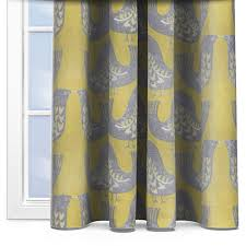 Mustard Curtain Iliv Scandi Birds Mustard Curtain Custom Curtains