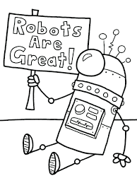 robot coloring pages print pdf pictures funny robot coloring