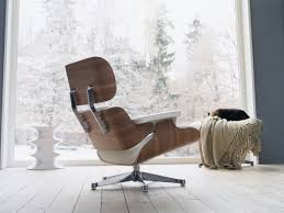 Bedroom Lounge Chairs Uk Buy The Vitra Eames Lounge Chair U0026 Ottoman White At Nest Co Uk