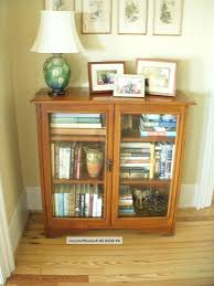 wall decoration bookshelves with glass doors for fantastic