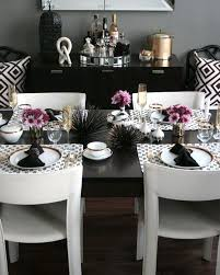 black and silver dining room set with worthy black and silver