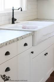Kitchen Cabinet Hardware Pictures by Fixer Upper Update Cabinet Hardware White Cabinets Wood Grain