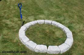 how to build a fire pit stowed stuff