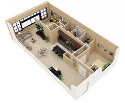 appartement avec une chambre 50 plans 3d d appartement avec 2 chambres 3d 50th and tiny houses