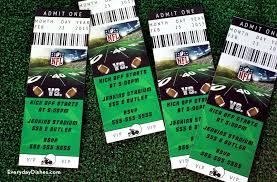 football ticket invitations printable everyday dishes u0026 diy