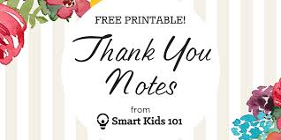 thank you notes get your free printable thank you notes right here smart kids 101