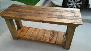 Build Outdoor End Table by Reclaimed Pallet End Table Pallet Furniture