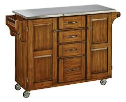 Kitchen Island Cart With Stainless Steel Top by August Grove Adelle A Cart Kitchen Island With Stainless Steel Top