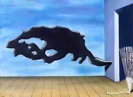 la chambre d oute magritte la sortie de l ecole artwork by rene magritte painting