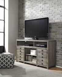 keeblen grayish brown tv stand with fireplace option w678 38