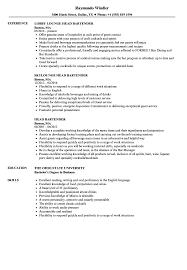 bartending resume exle bartender resume sles velvet