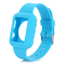 apple watch light blue silicone wrist watch band for apple watch 42mm light blue