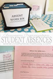 crafty teacher lady classroom organization managing student absences