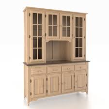 furniture natural finish buffet hutch with 4 drawers for home