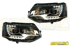 vw multivan transporter t5 oem bi xenon led drl dynamic