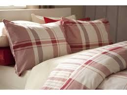 winter check red flannelette duvet cover set